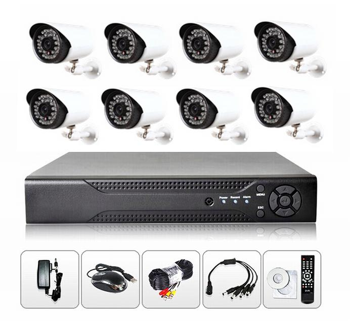 8CH 2MP AHD DVR Kit