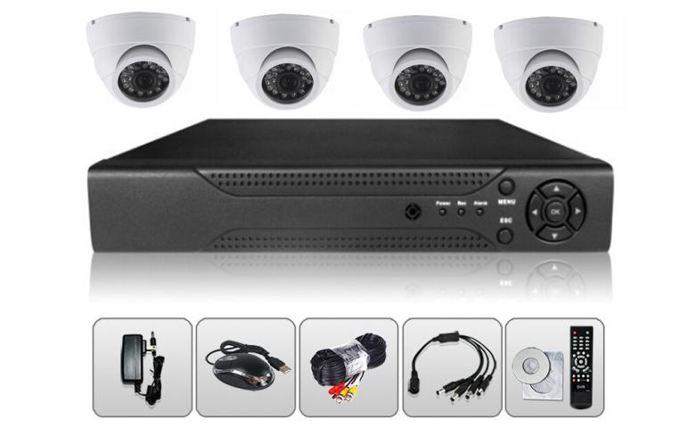 4CH 2MP AHD Dome DVR Kit