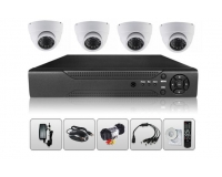 4CH AHD Dome DVR Kit