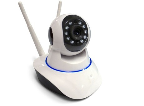 Double Wifi Antenna IP Pan-Tilt Camera